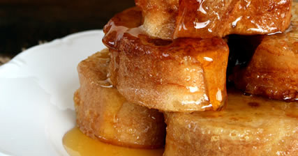 French Toast με μέλι και κανέλα